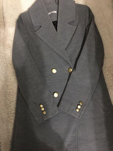 chrysler 2000 в Кыргызстан: Продаю турецкое почти новое пальто серого цвета, размер S,M. 2000 сом
