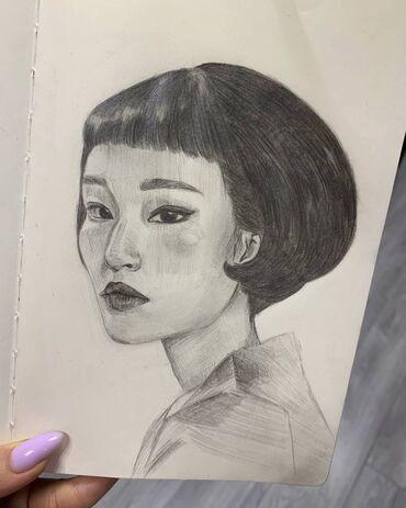 работа в бишкеке кассир в супермаркете в Кыргызстан: Рисую на заказ портреты (черно-белый рисунок) и на одежде акрилом по т