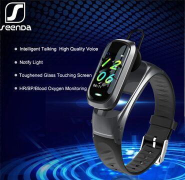 Умные часы SeenDa AI, Bluetooth наушники, монитор сердечного ритма