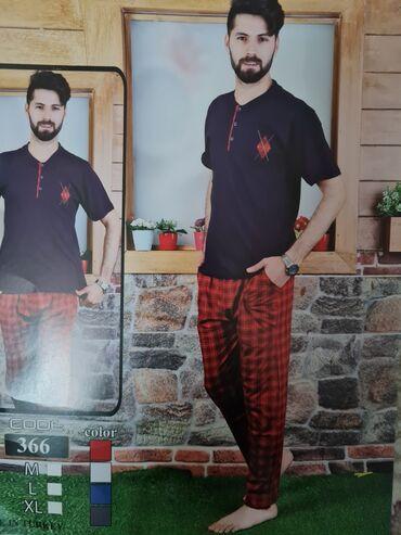 Pijama 100% pambiq destler boyuk reng secimi.M.L.XL. 25M