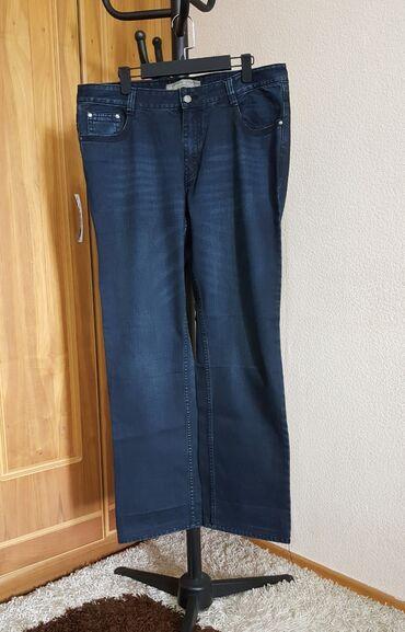 Мужские джинсы новый штаны темно синий плотный джинс размер 38 XL