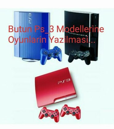 Butun Playstation 3 modellerine oyunlarin yazilmasi. Fat Slim ve в Bakı