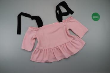 Жіноча стильна блуза з зав'язками на плечах Mango, p. S    Довжина: 42