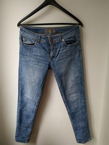 Farmerica-za - Srbija: Zara basic farmerice, broj 38. Nošene i mogu se još nositi. Budite sl