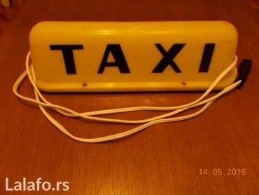 Magnetna taxi tabla sa dva i po metra kabla, utičnicom i dve sijalice - Lazarevac