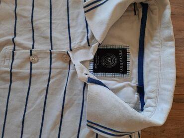 Westbury muska polo majica bela na plave pruge. Veličina 2XL