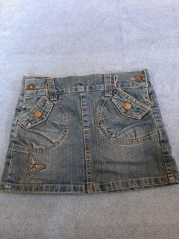Teksas suknjica za devojcice Velicina 4 Duzina 23, sirina struka 28