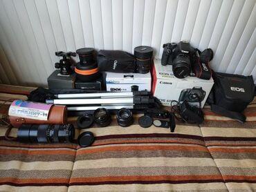 canon eos 600d kit в Кыргызстан: Продаю Canon 600D с большим комплектом, для сьемок 3D панорам и всего