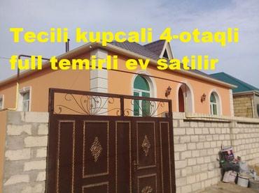 Bakı şəhərində   Tecili 4 otaqli kupcali full temirli ev satilir