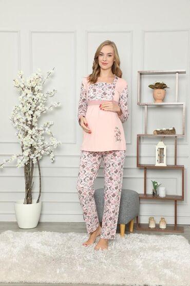 Пижамы для беременных, очень удобные хб. Для кормления. Производство