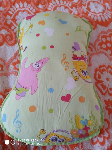Плед детский 2-х сторонний теплый мягкий, и подушка Спанч боб все в хо