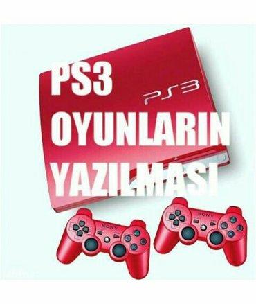 Bakı şəhərində Playstation 3 modellerine oyunlarin yazilmasi...Model ferqi yoxdu...(