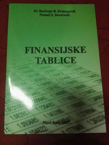 Knjige, časopisi, CD i DVD | Mladenovac: Finansijske tablice