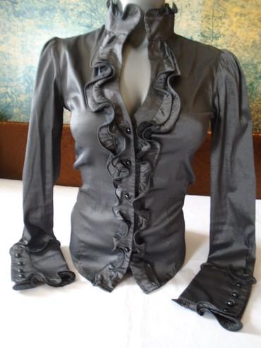 Dzak odece garderoba - Srbija: Prelepa metalik, tamno siva košulja. Veoma popularan i atraktivan
