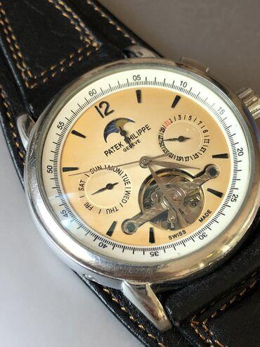 chasy original patek philippe geneve в Кыргызстан: Продаю механические часы Patek Philippe с заказным ремешком из чистой