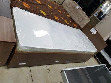 Кровать 1.9×0.8 с матрацем  (эконом в Бишкек