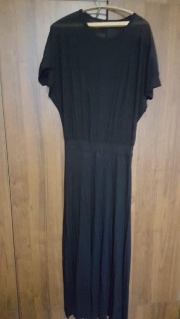 Трикотажное черное платье 52 р цена 2200с в Бишкек