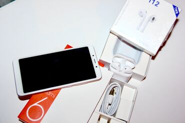 наушники optima в Кыргызстан: Новый Xiaomi Redmi 6 32 ГБ Золотой