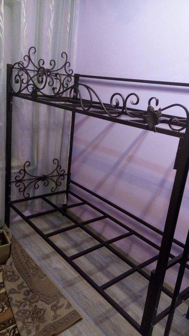 двухъярусная кровать с элементами ковки, очень красивая а главное креп в Бишкек