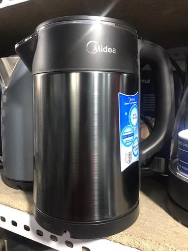 fejri-0-5 в Кыргызстан: Чайник электрический Midea !!Мощность - 0 Вт !!Объем - 1,7 литра !!