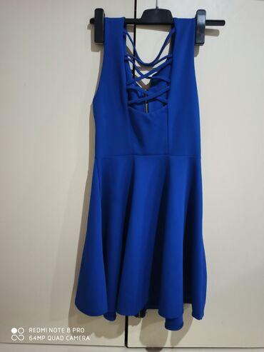 Kraljevsko plava haljinica, nova, veličine s, m, l