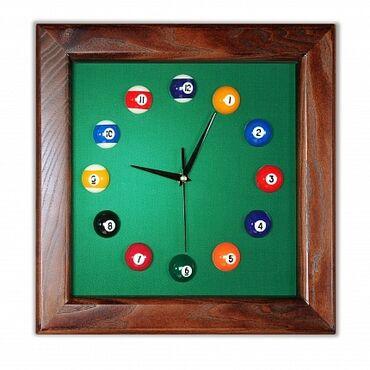 """Бильярдные столы - Кыргызстан: Часы """"Квадрат"""" ясень/сукно, лак Super DDБильярдные часы - это не"""
