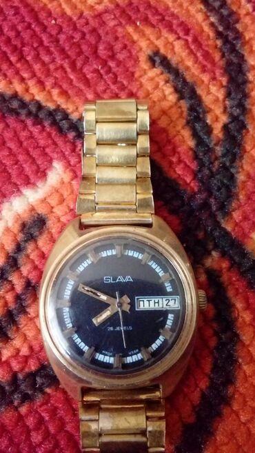 """Часы """"Слава"""" позолоченные.механиские.СССР. Ош шаары"""