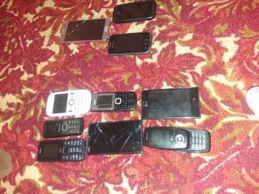 Продаю сотовые телефоны 6 шт на запчасти и 4 рабочих обо на вот сам в Кант