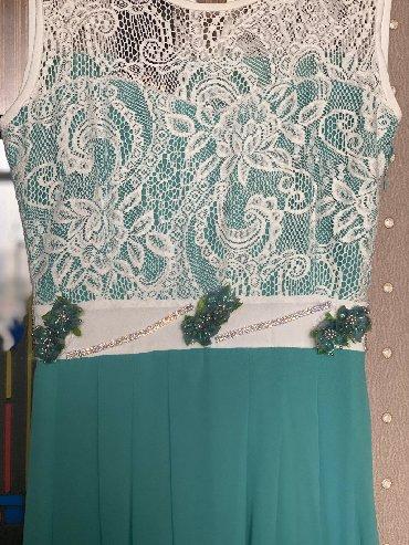 турецкая новая платье в Азербайджан: Новое вечернее платье. Куплено в Турции. Размер 38. цвет тиффани. Реал