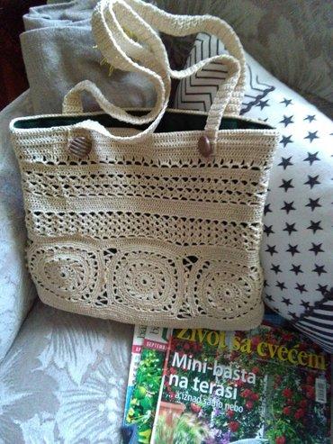 Heklana torba,rucni rad.prelepa za leto - Sombor