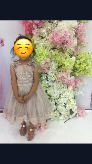 Шикарное пышное платье для девочки 4-5-6лет. Производство Турция