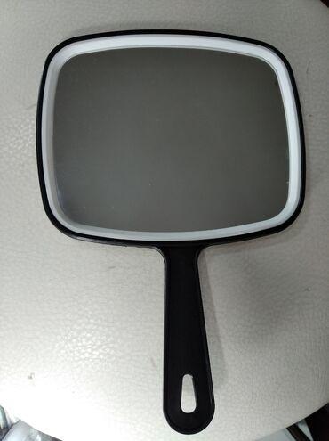 Зеркало с ручкой 20х15см