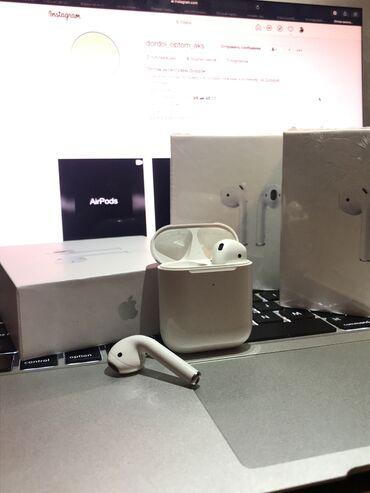 наушники tie audio в Кыргызстан: Airpods 2 premium white    доставка по кыргызстану бесплатно по снг до