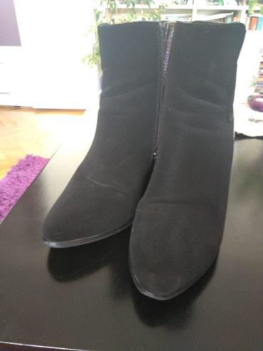 Ženska obuća | Jagodina: Čizmice vel.38,kao nove.Jednom nošene.Kombinacija eko kože i prevrnute
