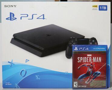 1976 объявлений: Игровая консоль Sony PlayStation 4 Slim Jet Black и играSpider-Man GOT