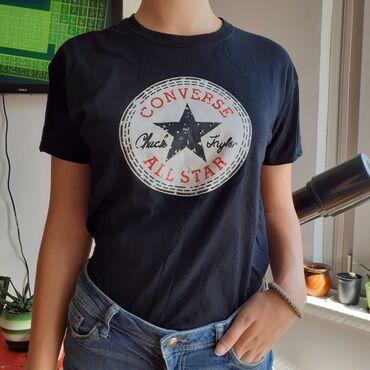 CONVERSE crna majica M-L. NOVA