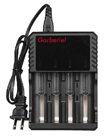 Garberiel 4 Bays Universal Smart Battery Charger Fast Charging for