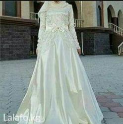 platja dlja 9 10 let в Кыргызстан: Свадебная платья свет белый жемчуг размер 48 одевалось всего( один)
