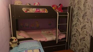 Продаём детскую двухярусную кровать. Состояние хорошее. Покупали пол