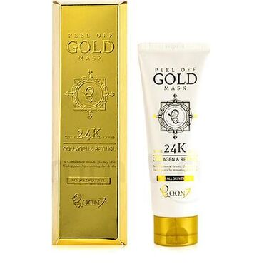 Boon7 Золотая маска для лица Peel Off Gold Mask Collagen & Retinol