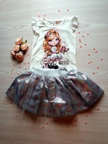Детская одежда, костюмы/платья на девочку, Турция, 100% х/б, от 0 до