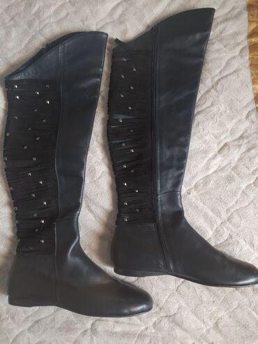 демисезонные замшевые полусапожки в Кыргызстан: Продаю сапоги-ботфорты итальянского бренда Vero Cuoio (демисезонные)