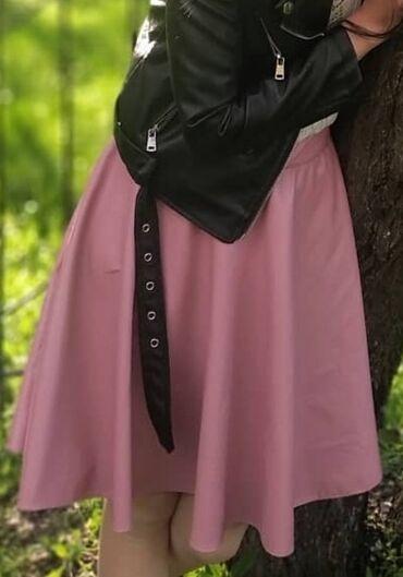 Кожаная юбка эко кожа размер 42 новая 300 сом