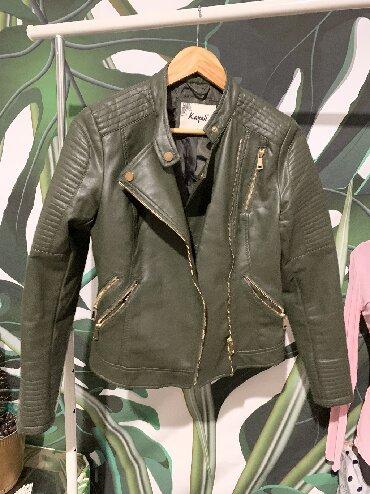 Ženska odeća | Knic: Zenska jakna, eko koza. Zeleno maslinasta. Nova. Bez ostecenja. L veli
