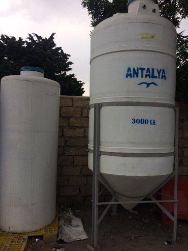 Bakı şəhərində Su çanlari  her ölçude plastik su baklari  zemanet ve catirilma