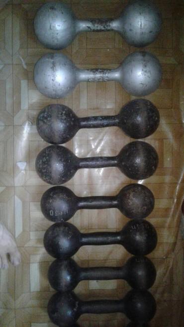 Советские гантели 12 кг 10кг 8кг6кг4кг все пары родные в Бишкек