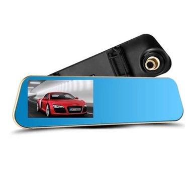 Auto kamera retrovizor full hd1080p+rikverc kamera  dvr snimač vožnje, - Beograd - slika 3