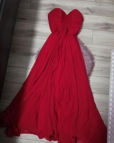 Duga bordo haljina, plaćena 8900. Jednom nošena. Bez ikakvih oštećenja