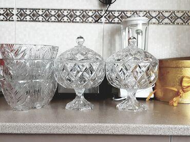 Кухонные принадлежности - Кыргызстан: Чешское хрусталь. 100% 5шт. Очень глубокие.,конфет-цы 2шт. Салат-цы 3