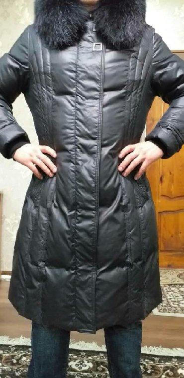 Продаю женскую куртку. Б/У Воротник натуралка писец чёрный. 50 Размер